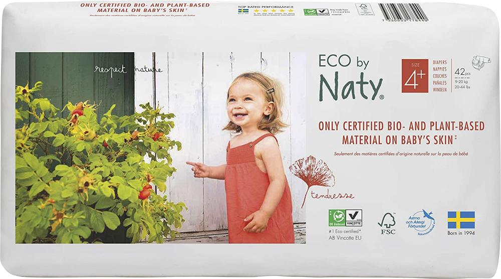 Naty By Nature Eco Size 4 Plus 42pcs