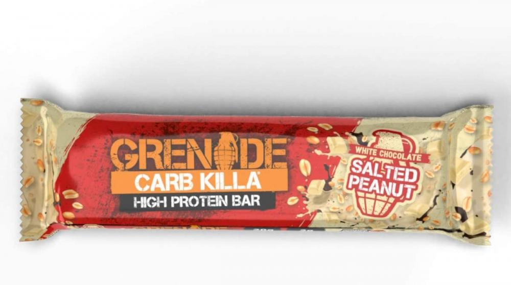 Grenade Carb Killa High Protein and Low Carb Bar White Chocolate Salted Peanut 60g