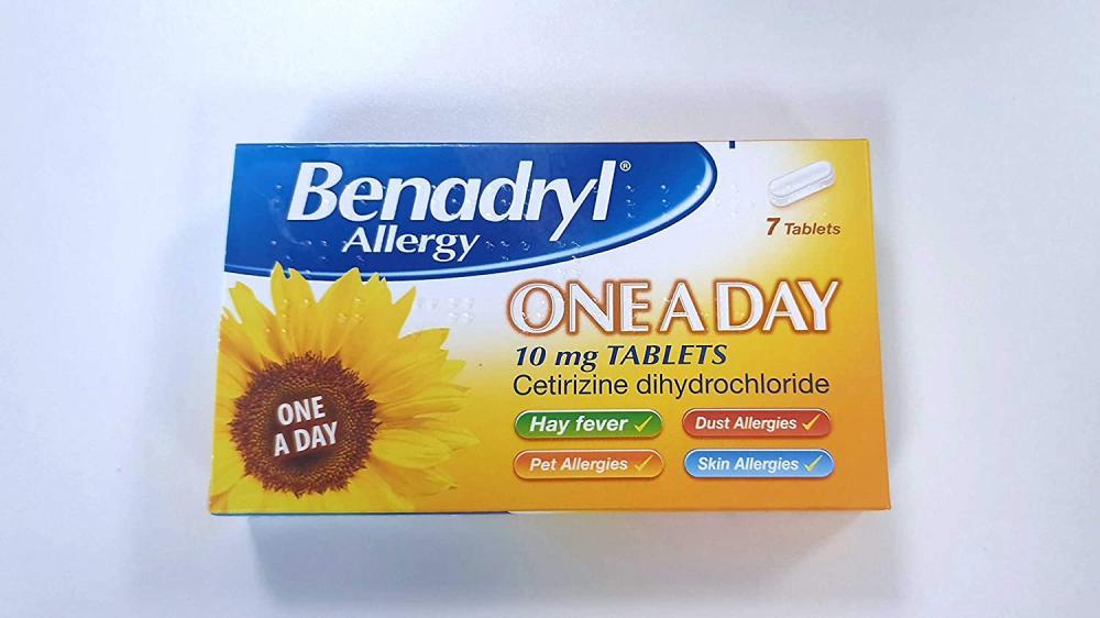 Benadryl One a Day Relief Cetrizine 7 tablets
