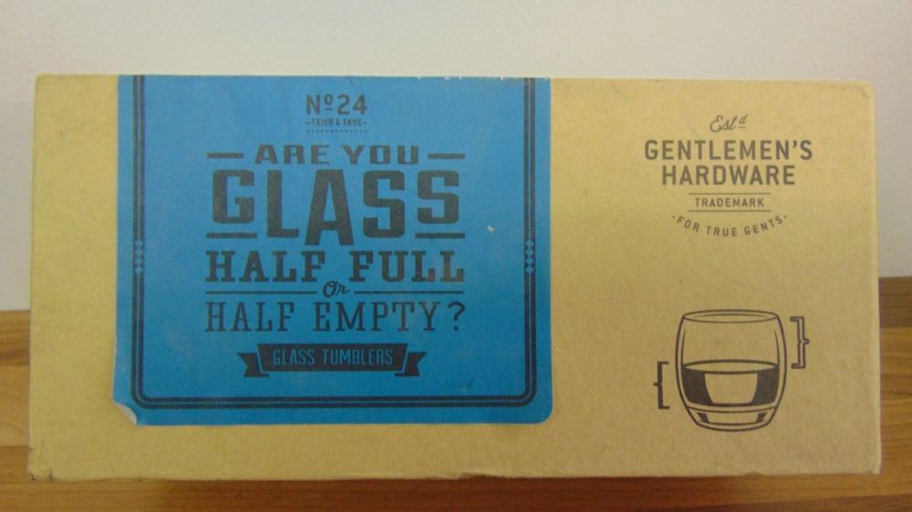 Unbranded Gentlemans Hardware 2x40ml Glass Tumblers