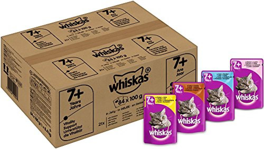 Whiskas 7 Senior Cat Pouches Variety in Jelly 100 g