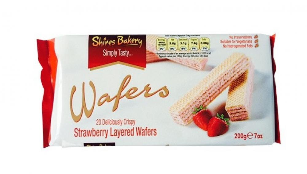Shires Bakery 20 Strawberry Layered Wafers 200g