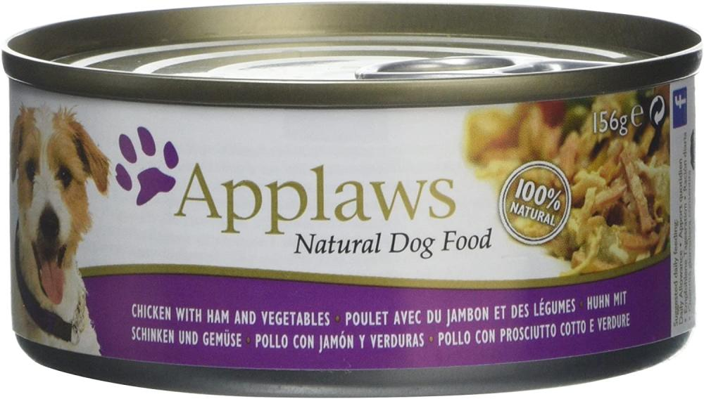 Applaws Chicken with Ham Vegetables and Rice Dog Food 156g