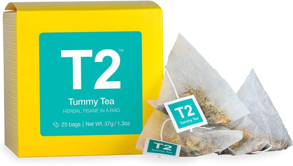 T2 Tea Tummy Tea Herbal Tisane 25 Tea Bags in a Box