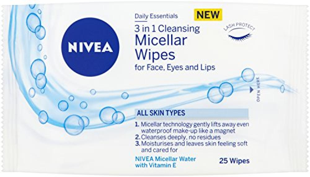 Nivea Daily Essentials 3-in-1 Caring Micellar Cleansing 25 Wipes