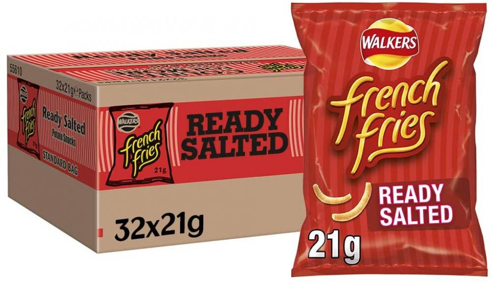 FLASH DEAL CASE PRICE  Walkers French Fries Ready Salted 32 x 21g