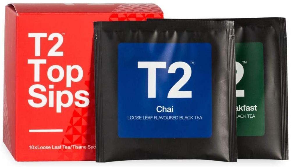 T2 Tea Assorted Tea Sampler Gift Box 10 sachets