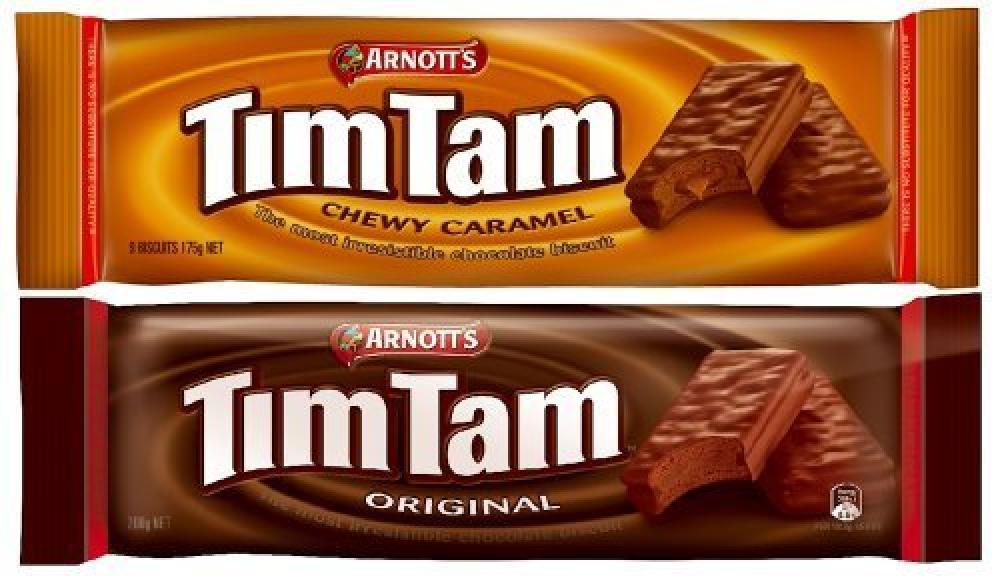 TimTams Original and Chewy Caramel Biscuits Pack