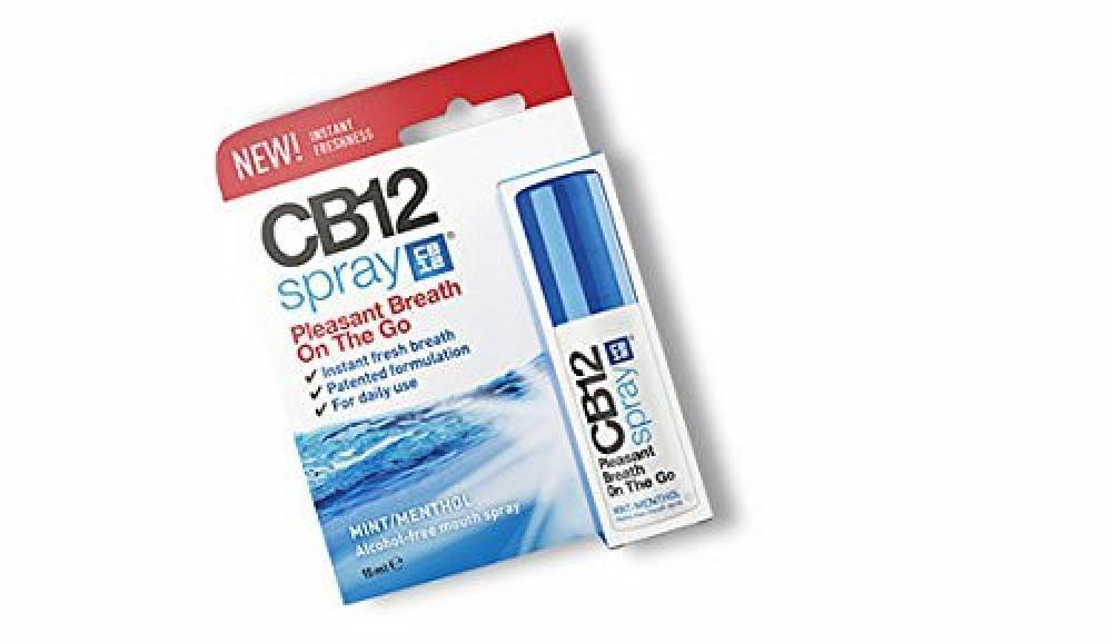 CB12 Spray Pleasant Breath On To Go Mint Menthol 15ml Damaged