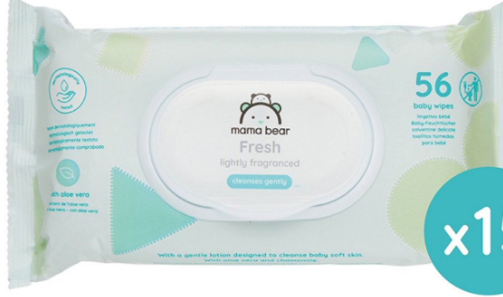 Mama Bear Soft Lightly fragranced wipes 56 wipes