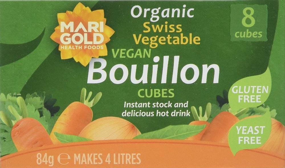 Marigold Organic Yeast FreeGluten Free Vegan Bouillon Cube 84g