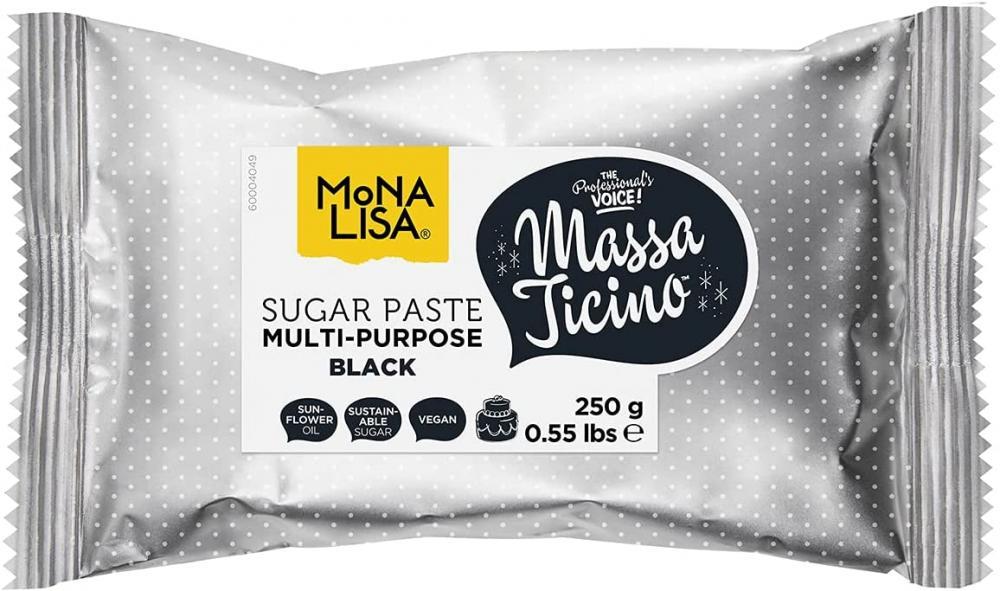Massa Ticino Sugarpaste for Cakes Multi-Purpose Black 250g