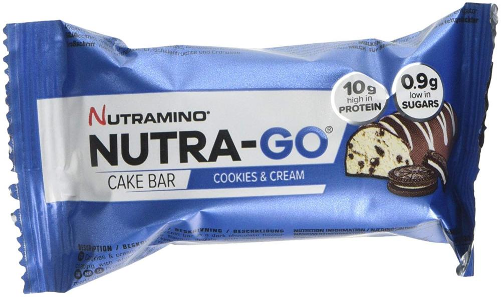 Nutramino Nutra-Go Cake Bar Cookies and Cream 38g