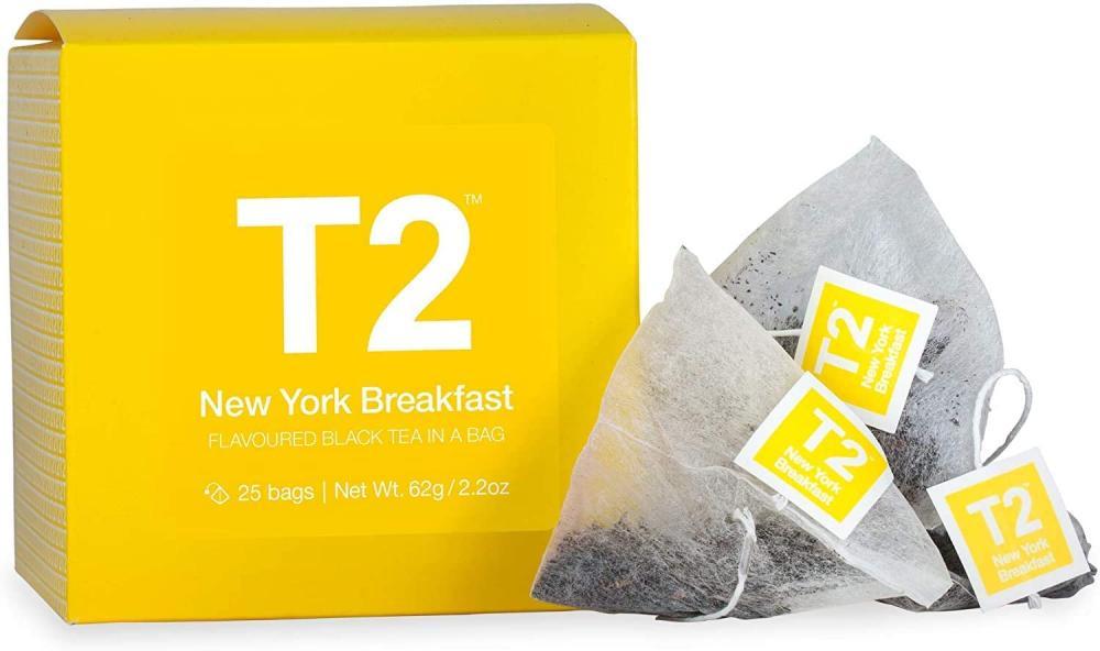 T2 Tea New York Breakfast Black Tea Cube in Box 62g Damaged Box