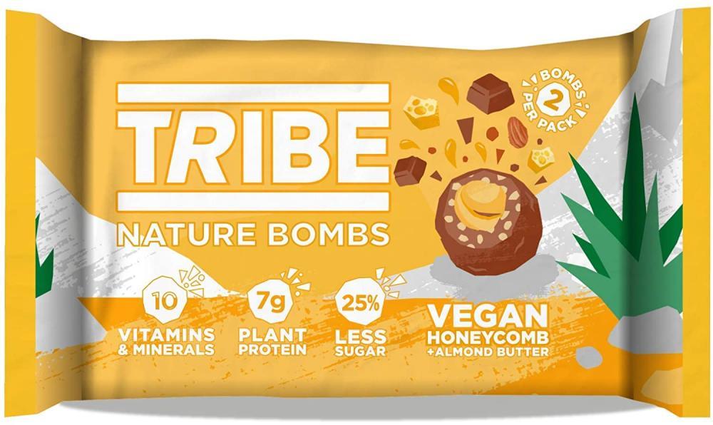Tribe Protein Balls Vegan Honeycomb plus Almond Butter 40 g