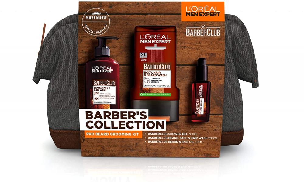 Loreal Men Expert Gift Set for Men Barbers Collection Beard Grooming Kit