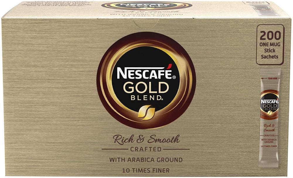 Nescafe Gold Blend 200 One Mug Stick Sachets