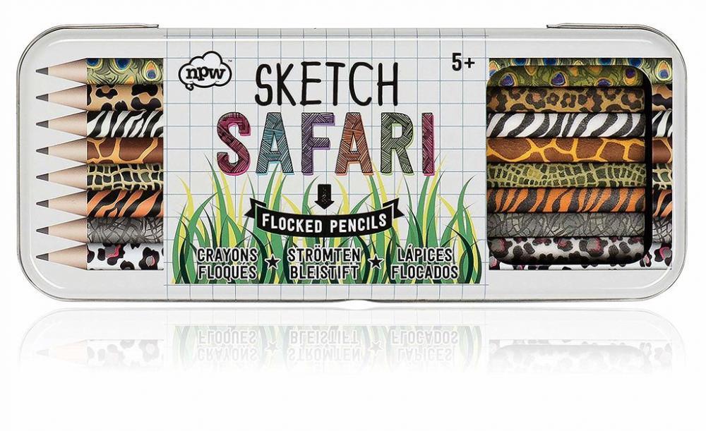 NPW Sketch Safari Flocked Pencils