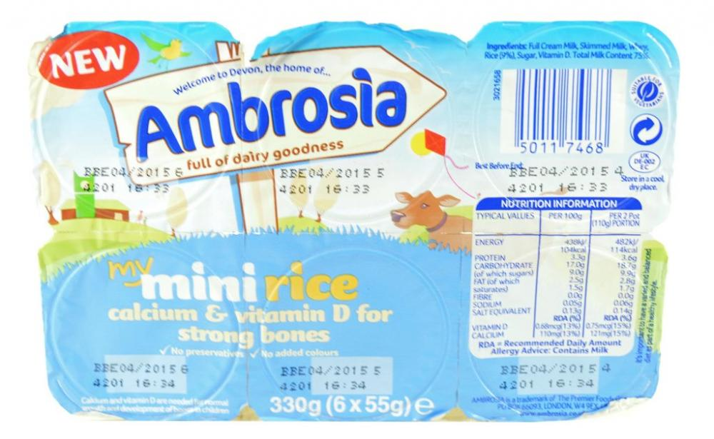 Ambrosia Mini Rice 6 x 55g