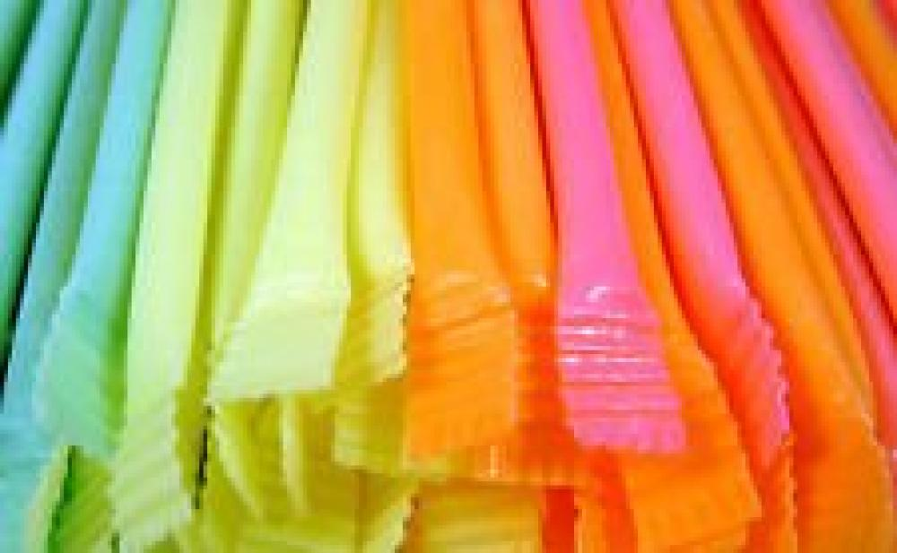 Rainbow Dust Candy Straws - 13cm Long Pack of 30 Assorted