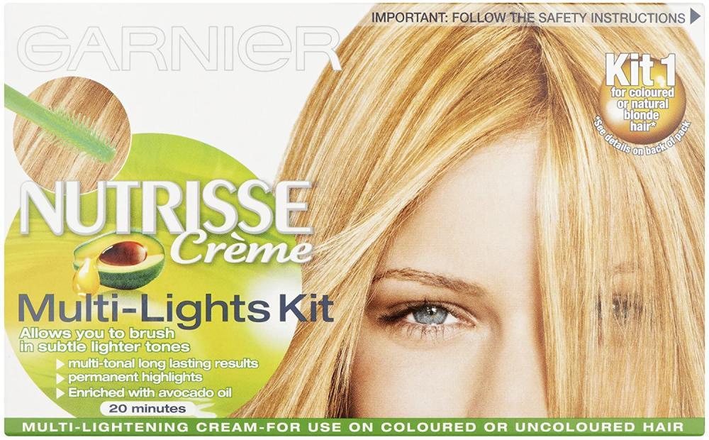 Garnier Nutrisse Hair Highlights Kit Multi-Lights Permanent Damaged Box
