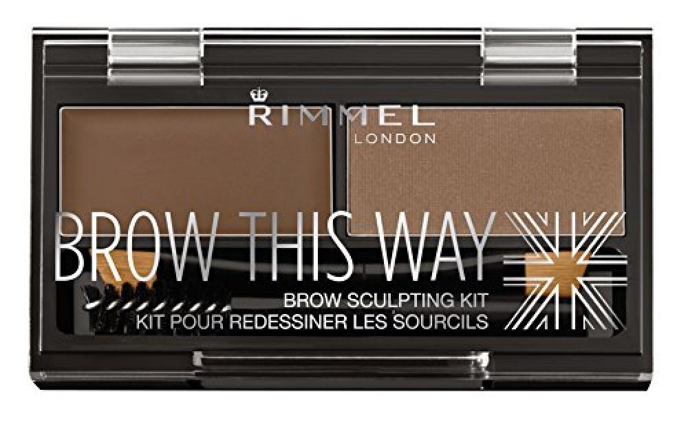 Rimmel Eyebrow Kit - Mid Brown 1.3 g