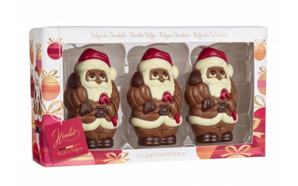 Hamlet 3 Belgian Chocolate Santas 165g