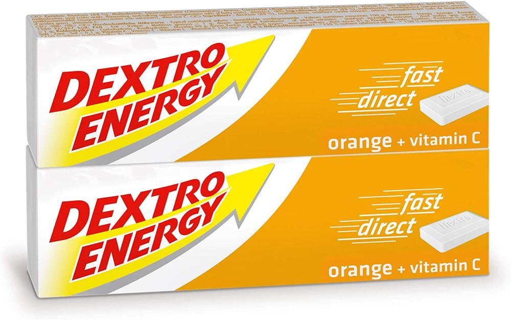 Dextro Energy Orange Glucose tablets with Vitamin C Double Pack 2x47g