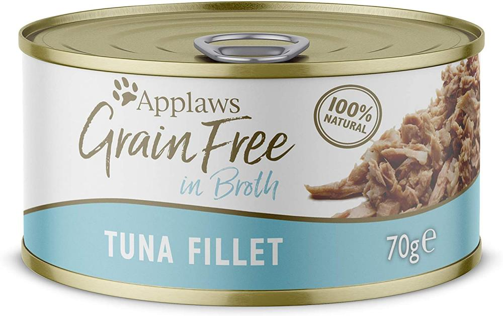 Applaws 100 Percent Natural Grain Free Wet Cat Food Tuna 70g