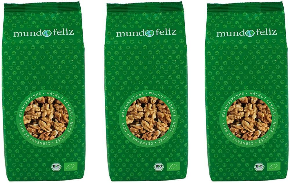 Mundo Feliz Organic Walnut Halves 300g