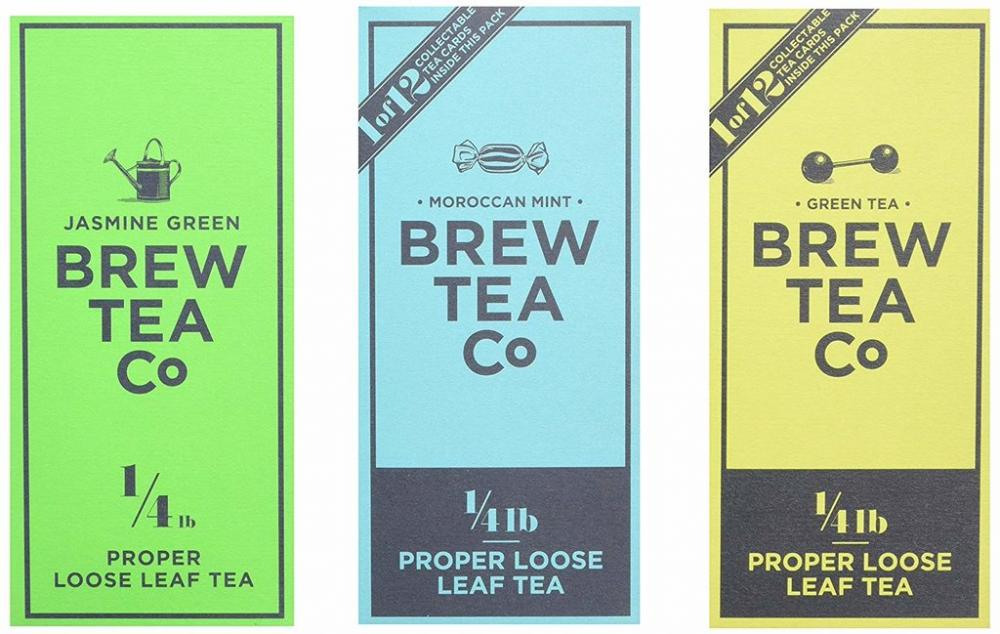 Brew Tea Co Loose Leaf Variety Green Tea Pack of 3 3x113g