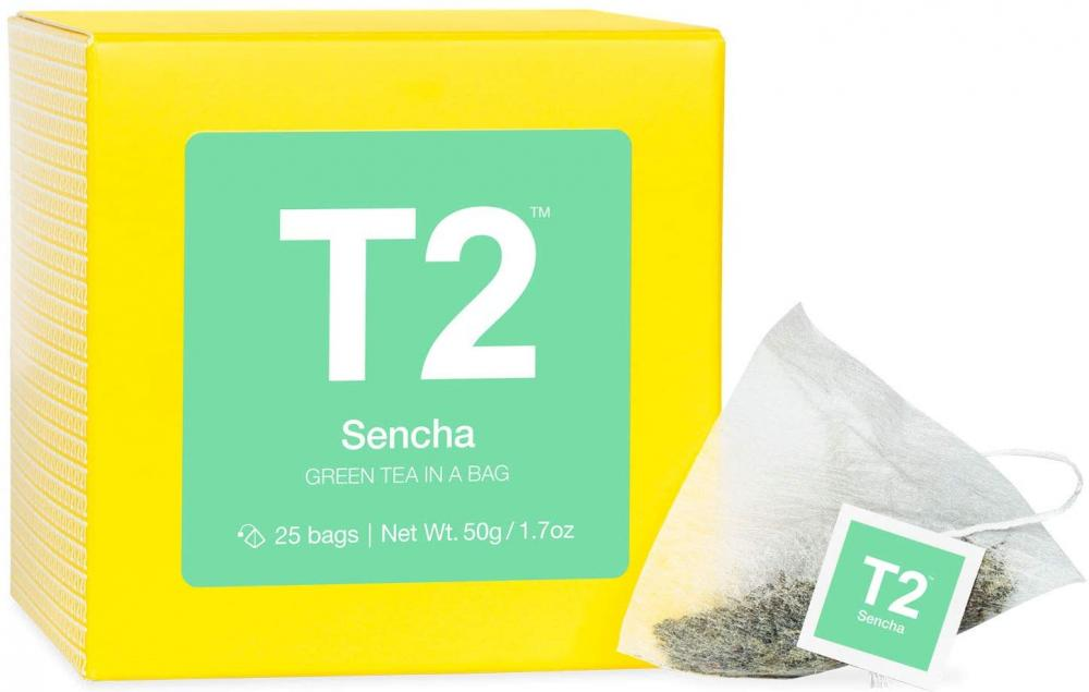 SALE  T2 Tea Sencha Green Tea in Gift Cube 50 g