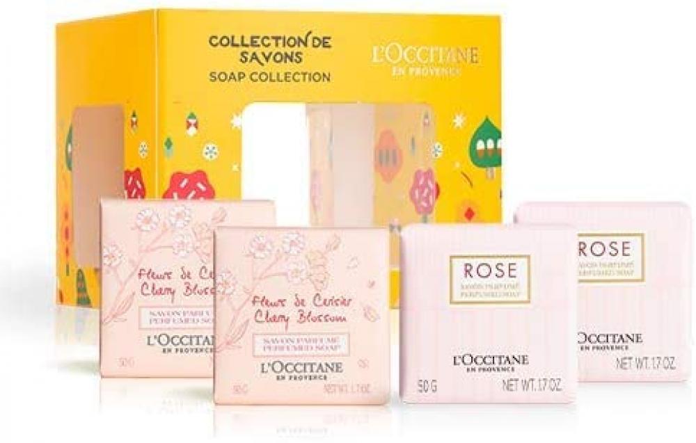 L Occitane En Provence Floral Scented Soap Quatro 4 x 50g