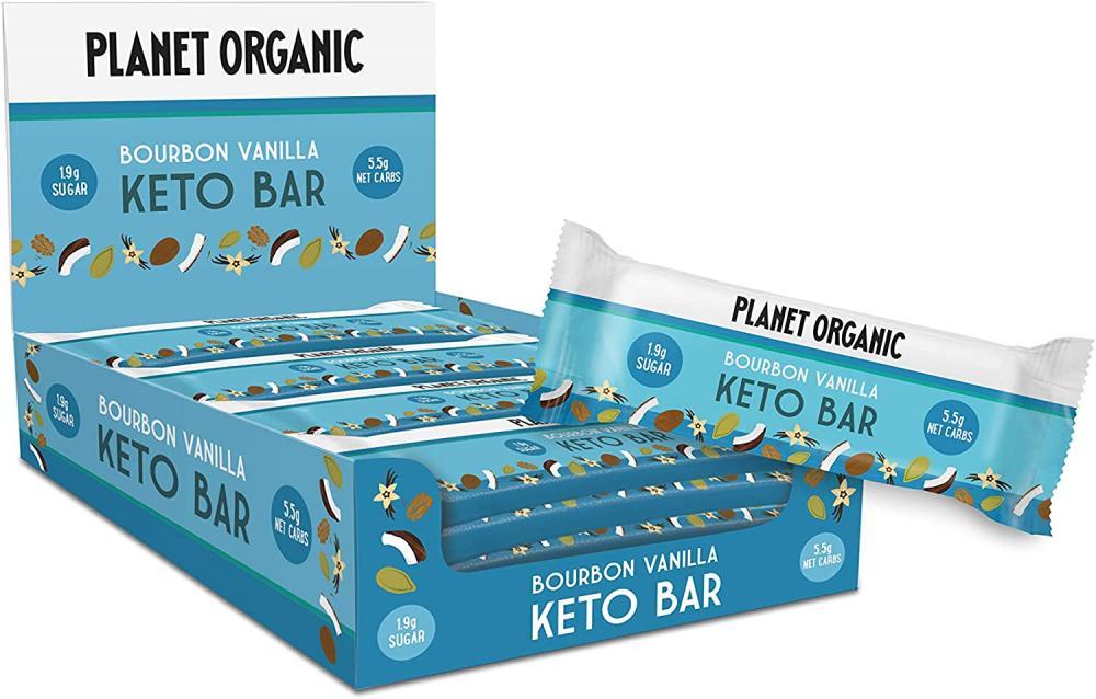 Planet Organic Bourbon Vanilla Keto Bar 40g