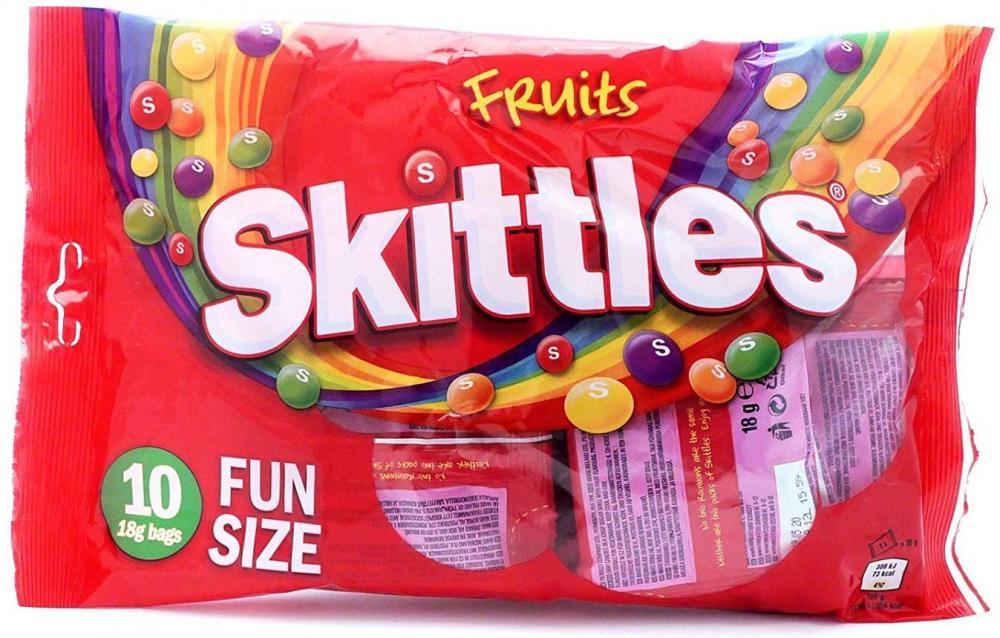 Skittles Fruits Fun Size 10 Bags 180g