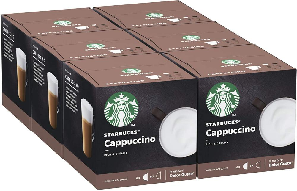 FLASH DEAL  Starbucks Cappuccino By Nescafe Dolce Gusto Coffee Pods 12 Capsules