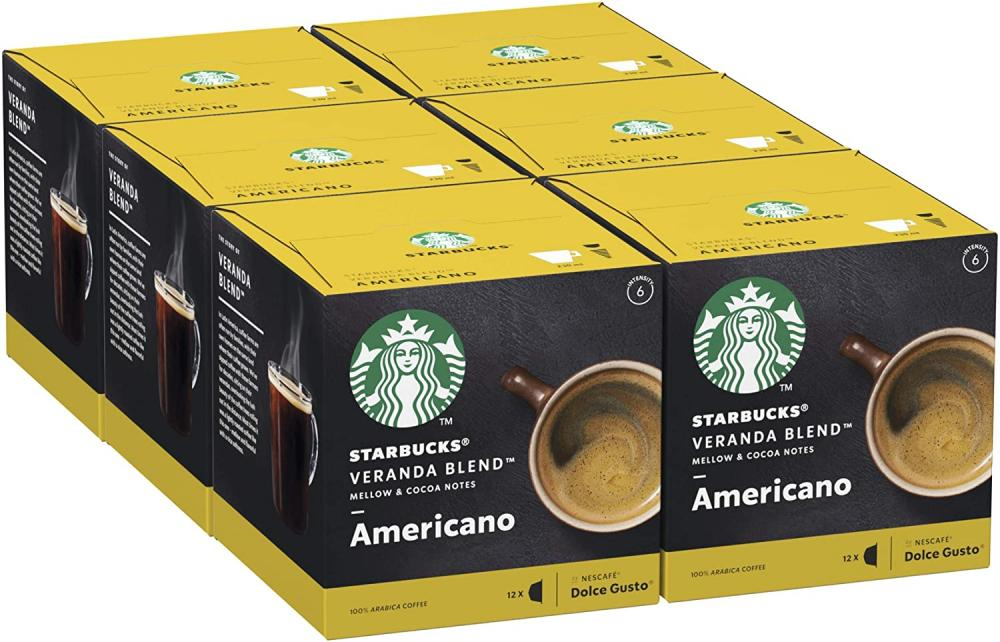 Starbucks Veranda Blend By Nescafe Dolce Gusto Blonde Roast Coffee Pods 12 Capsules