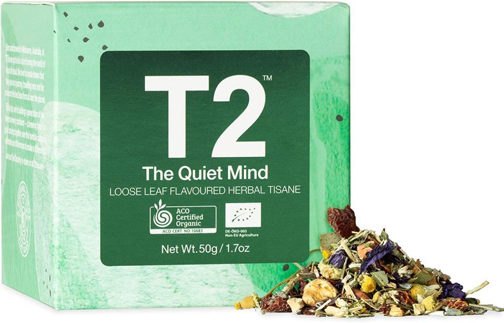 T2 Tea The Quiet Mind Loose Leaf Flavoured Herbal Tisane 50g