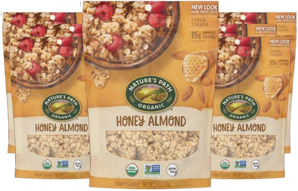 Natures Path Organic Gluten Free Granola Honey and Almond Granola 312g