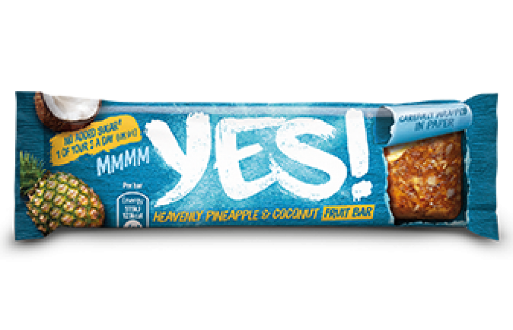 Yes Pineapple and Coconut Snack Bar 32 g