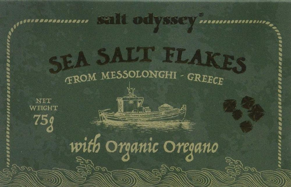 Salt Odyssey Sea Salt Flakes With Organic Oregano 75g