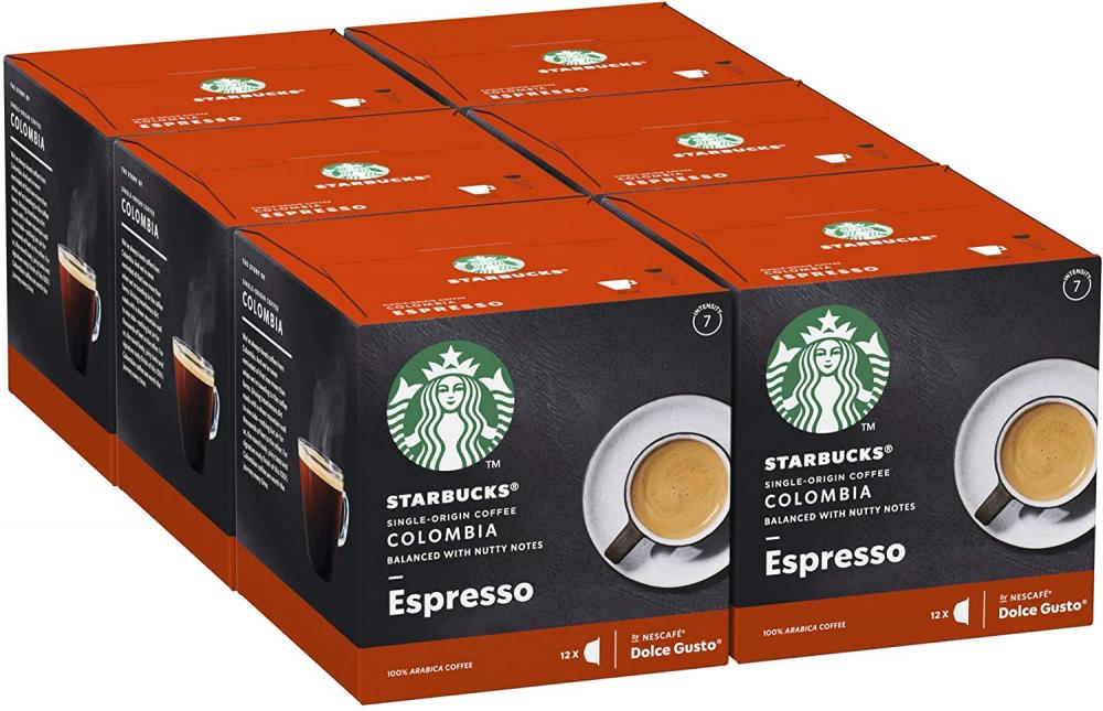 FLASH DEAL  Starbucks Single Origin Colombia by Nescafe Dolce Gusto Medium Roast Coffee Pods 12 Capsules