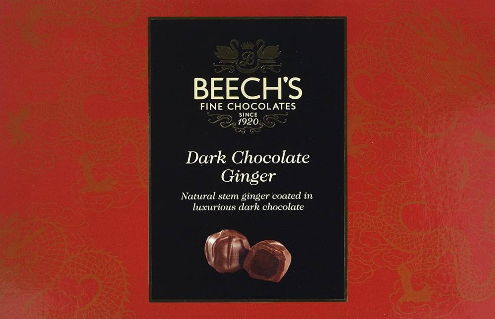 Beechs Fine Chocolate Dark Chocolate Ginger 200 g