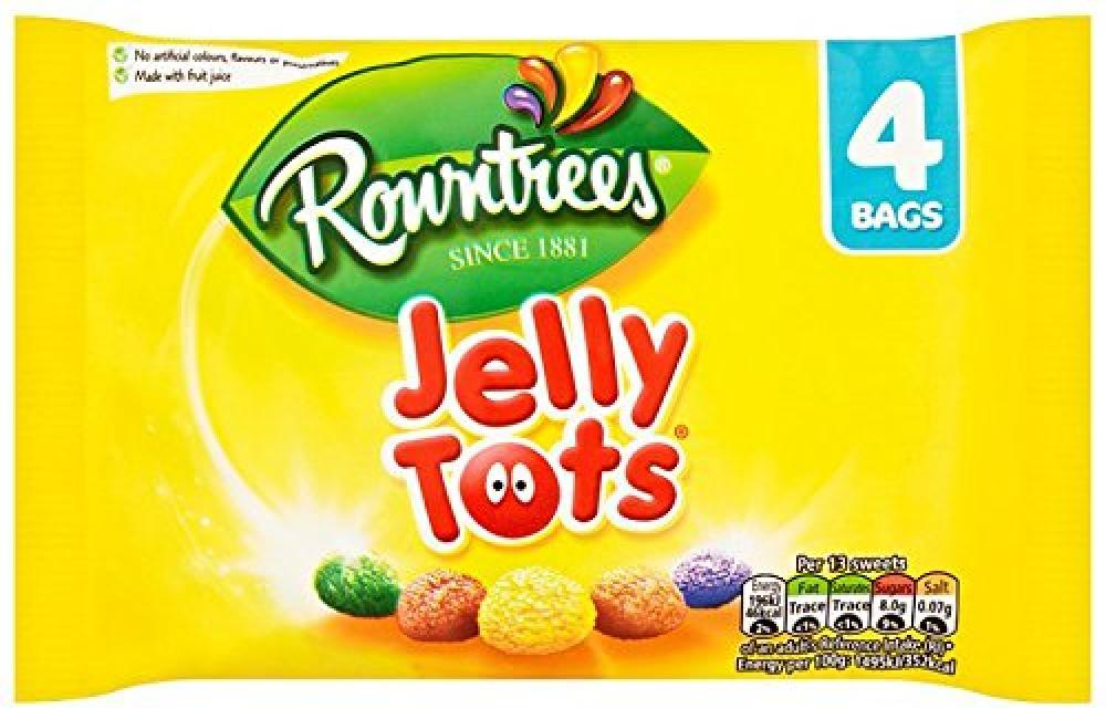 Rowntrees Jelly Tots 4 x 28g