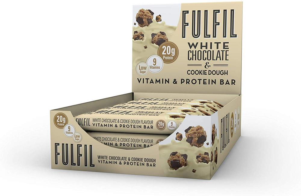 Fulfil White Chocolate and Cookie Dough Vitamin and Protein Bar 55g 55g