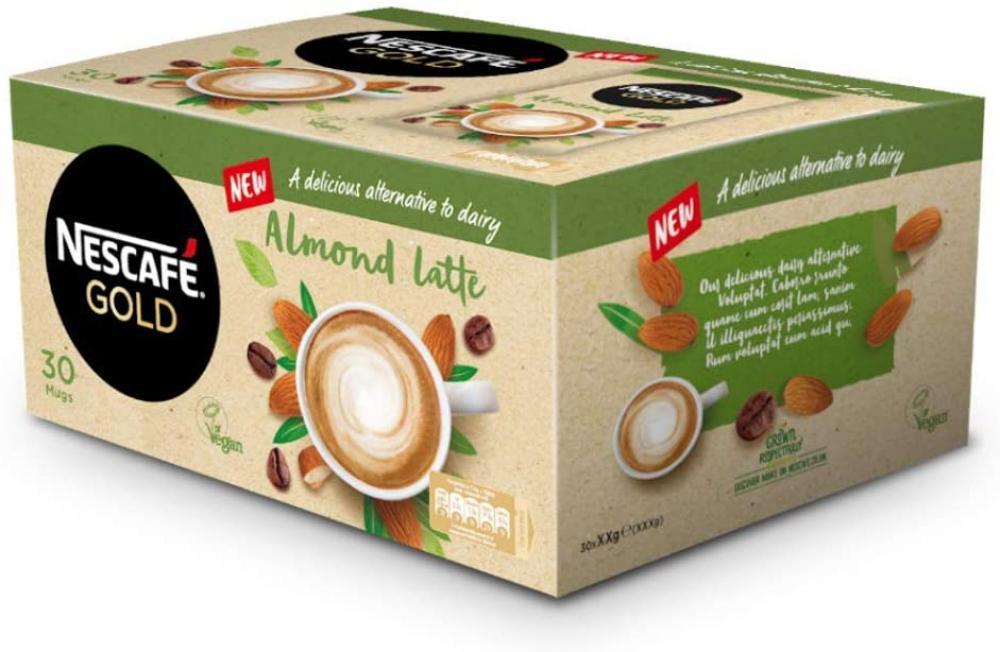Nescafe Gold Instant Coffee Almond Latte 30x16g