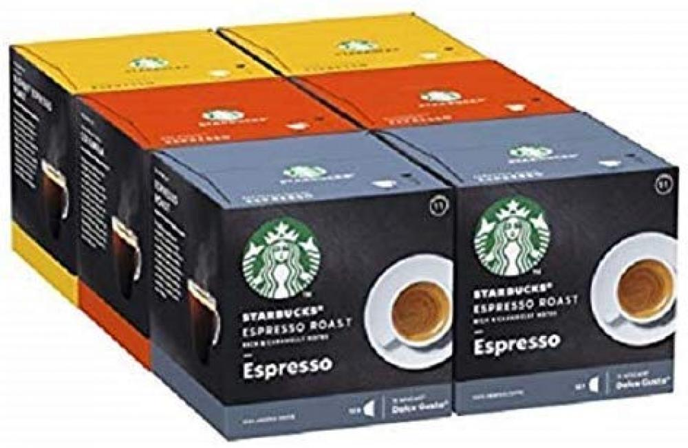 Starbucks Nescafe Dolce Gusto Variety Pack Black Cup Coffee Pods 72 Servings