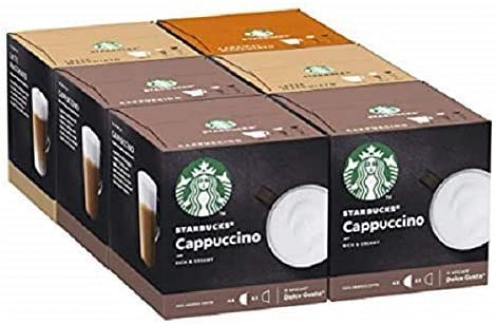 Starbucks Nescafe Dolce Gusto Variety Pack White Cup Coffee Pods 6 Pack