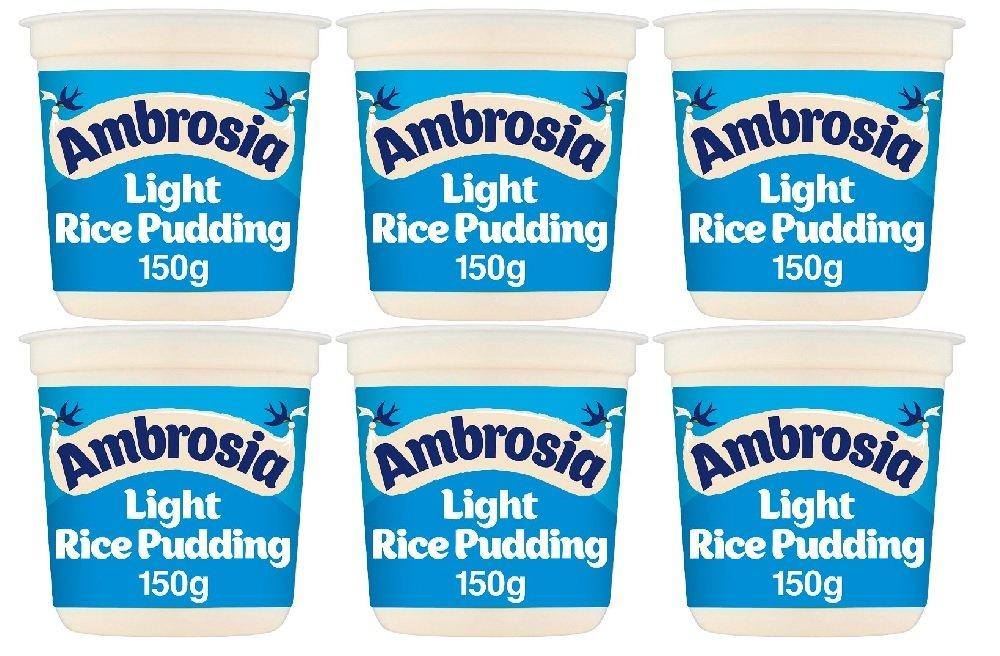 CASE PRICE  Ambrosia Light Rice Pudding 150g x 6