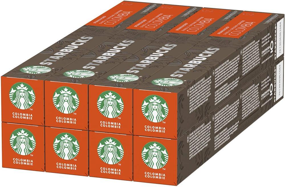 CASE PRICE  Starbucks Colombia By Nespresso 8 x 10 Capsules